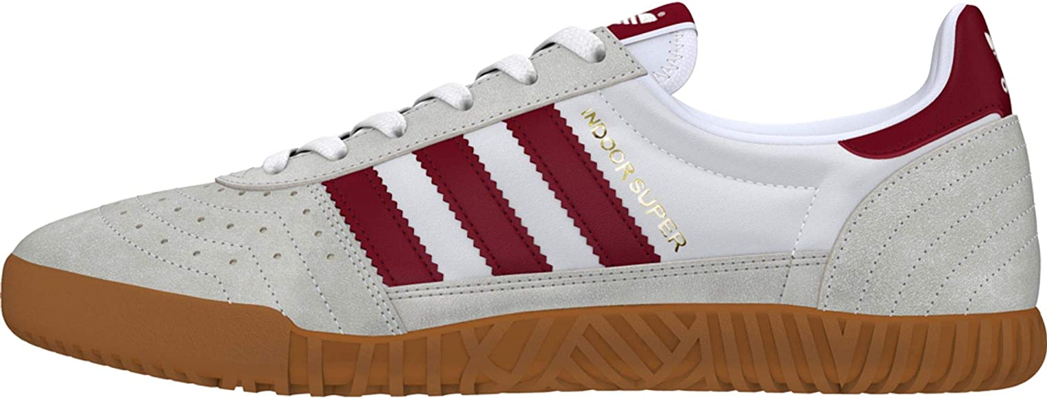 Empírico Mal funcionamiento Acurrucarse  adidas Indoor Super Shoes FTWR White/Burgundy: Amazon.co.uk: Shoes & Bags