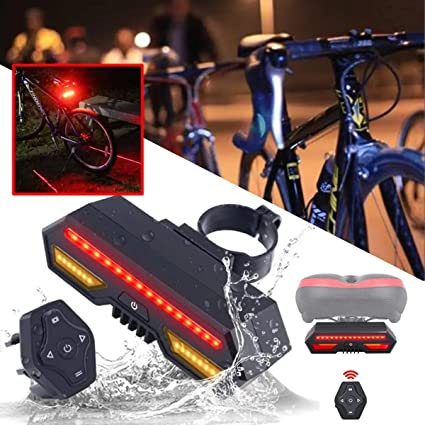 LED Bike Taillight Bicycle Rear Warning Lamp USB Charging Night Riding Light RC