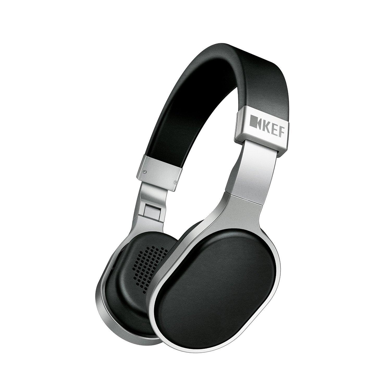 KEF M500 Hi-Fi On-Ear Headphones - Aluminum/Black by KEF