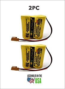 2pc BR-CCF2TH 6V Lithium Replacement Battery for Fanuc oi Mate Model-D, Panasonic Controls, PLC Computer Ge Fanuc A06 Series A98l-0001-0902, BR-CCF2TE CNC (Cutler Hammer), Brown Connector