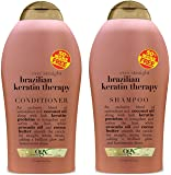 Ogx Brazilian Keratin Therapy Shampoo & Conditioner Duo 19.5 Ounce