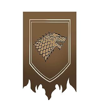 [100CM X 65CM] Game of Thrones póster, Casa de Juego de Tronos Bandera