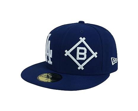 the latest b40d1 4de6a New Era 59Fifty Hat Los Angeles Dodgers 1958 Heritage Patch d Up Dark Royal  Blue