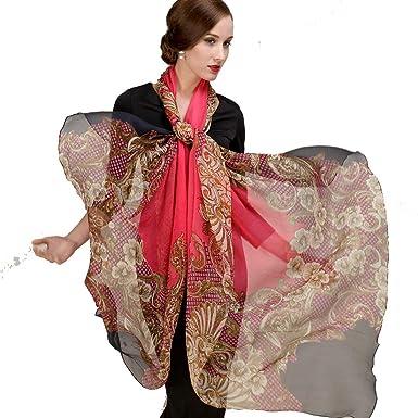 DANA XU Pure Silk Large Size Pashmina Shawls and Wraps Scarfs for Women
