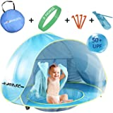 Baby Beach Tent R ? HORSE Pop Up Portable Shade Pool UV Protection Sun Shelter for Aged 0-3 with Storage Bag, 4 Legs and Fluorescent Wristband, 27.5 inch High