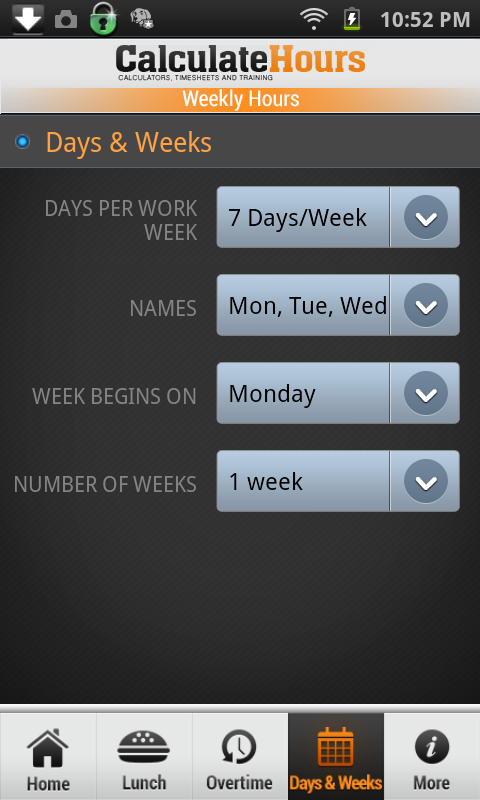 amazoncom time card calculator timeclock appstore for android