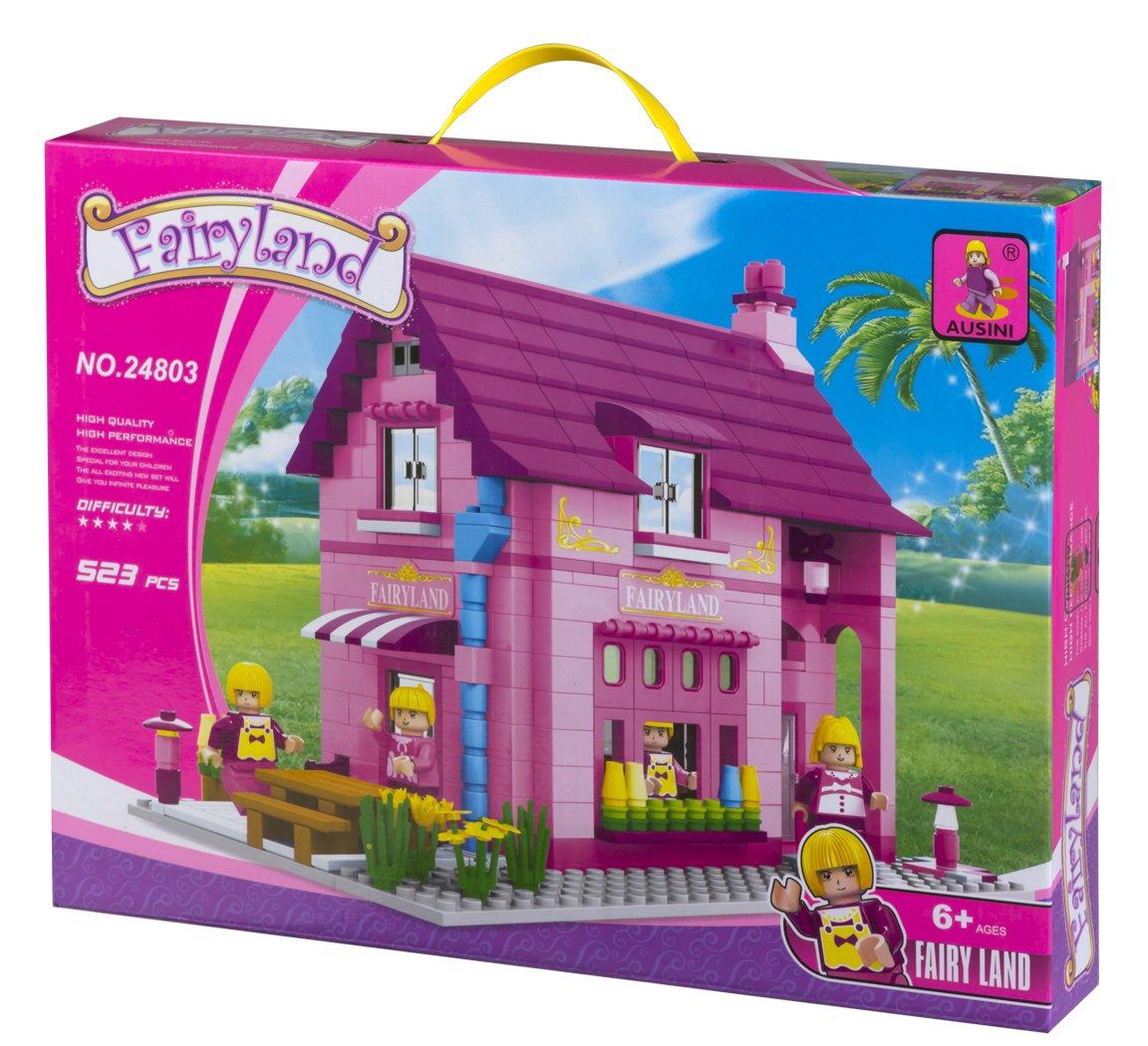 Ausini Juego de construcción Casa  jardín piezas ColorBaby