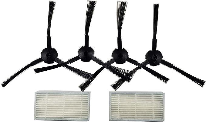 Hannets ersaz minicontrolador para Medion md16192 I md18500 I md18501 I md18600 I Robot aspiradora Robot Aspirador 2 Escobilla de Recambio y 2 filtros Apta para Medion y Ariete: Amazon.es: Electrónica