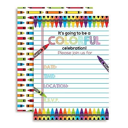 amazon com amanda creation colorful rainbow crayons themed birthday
