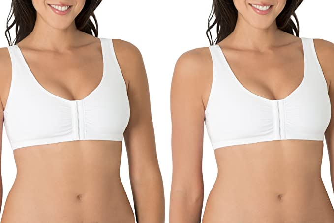 db6b4da7e82af Image Unavailable. Image not available for. Color  Fruit of the Loom Women s  Plus Size Front Close Builtup Sports Bra ...
