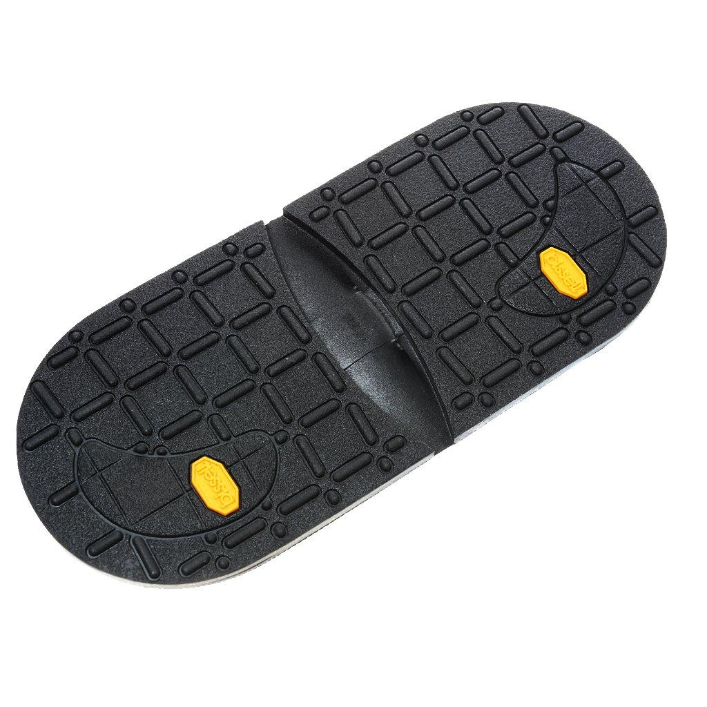 Footful Pair Rubber Heels Anti Slip DIY Shoe Repair Black STK0155010291