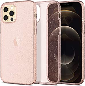 Spigen Liquid Crystal Glitter Designed for iPhone 12 Case (2020) / Designed for iPhone 12 Pro Case (2020) - Rose Quartz