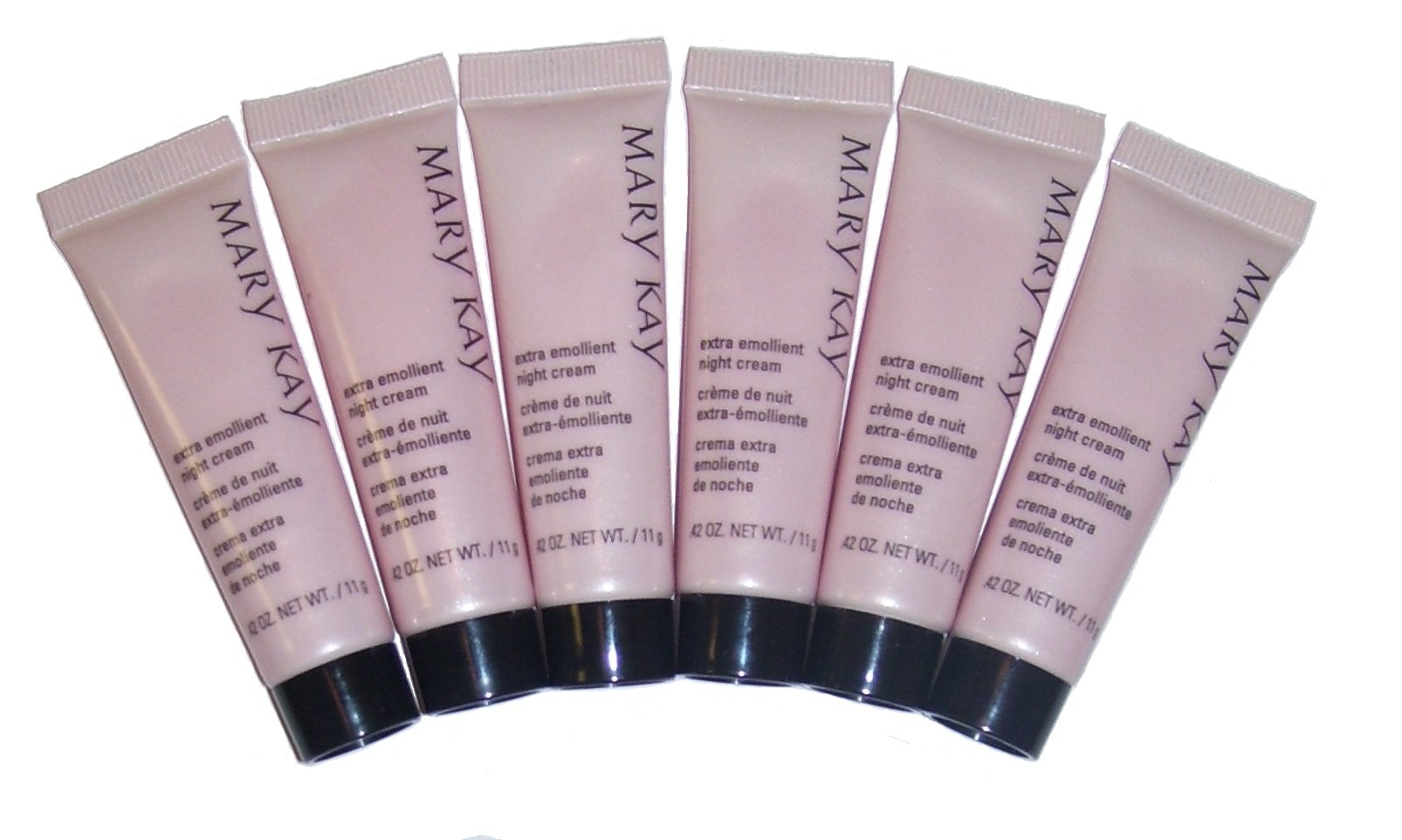 Lot of 6 Mary Kay Extra Emollient Night Cream ~ Travel Size ~ Set / Pack