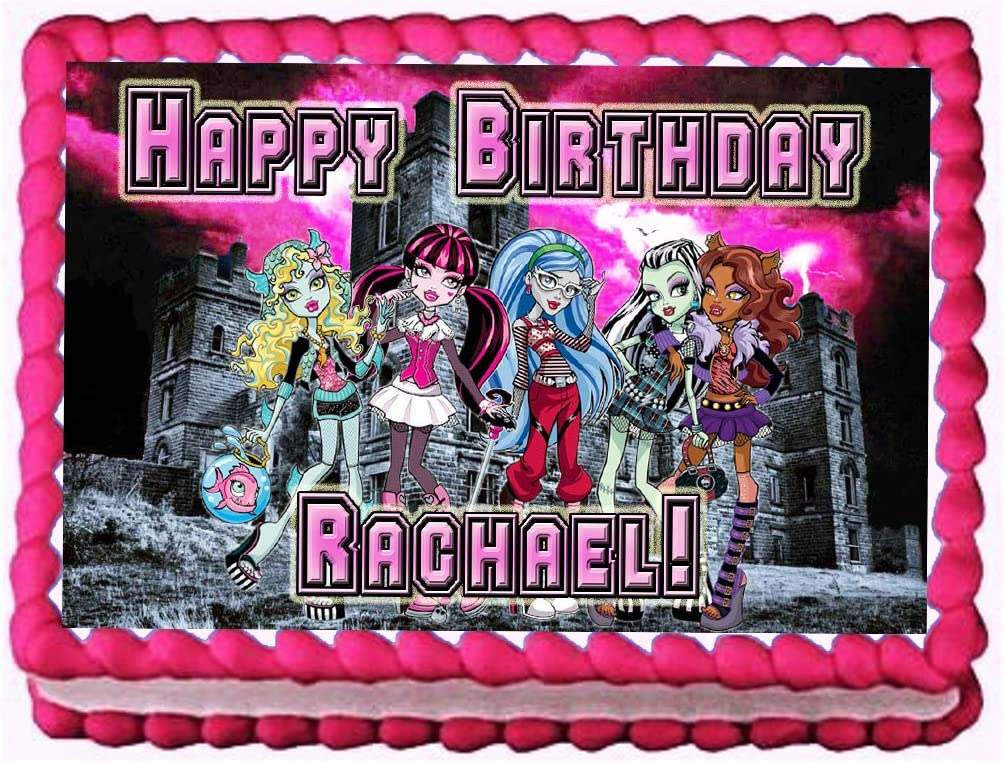 Wondrous Amazon Com Monster High Night School 1 4 Sheet Edible Photo Funny Birthday Cards Online Fluifree Goldxyz