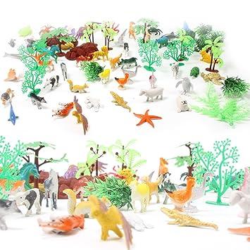Amazon 動物イラストminiジャングル動物おもちゃセット