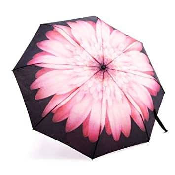 PINK Umbrella Automatic Open Wind Resistant With Matching Sleeve