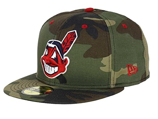 2e922f57ee4a New Era Cleveland Indians 59fifty Cap Woodland Camouflage - 6 7 8-55cm