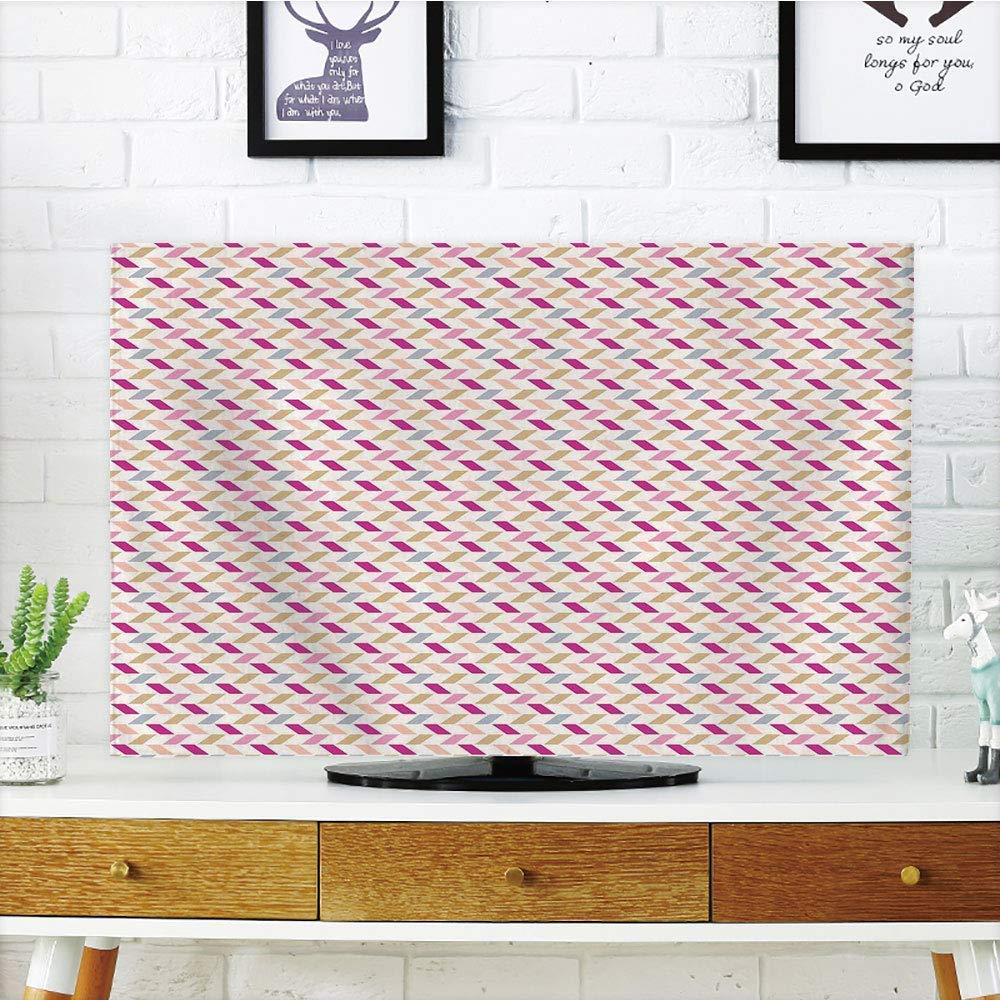 VAMIX 液晶ディスプレイテレビダストカバー カスタマイズ可能 星座装飾 星座マップ 説明付き 互換性あり 人 未来の誕生 ネイタル アーステーマ マルチ グラフ カスタマイズデザイン 37インチテレビ対応 TV 65