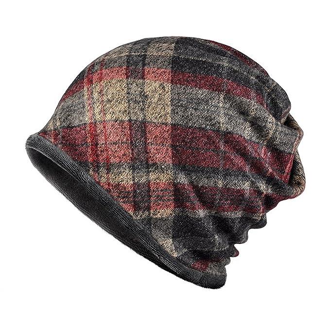 Arcweg scaldacollo cappello beanie tubolare invernale unisex antivento e  multiuso sciarpa collo in pile con motivo 85c01d8aa174