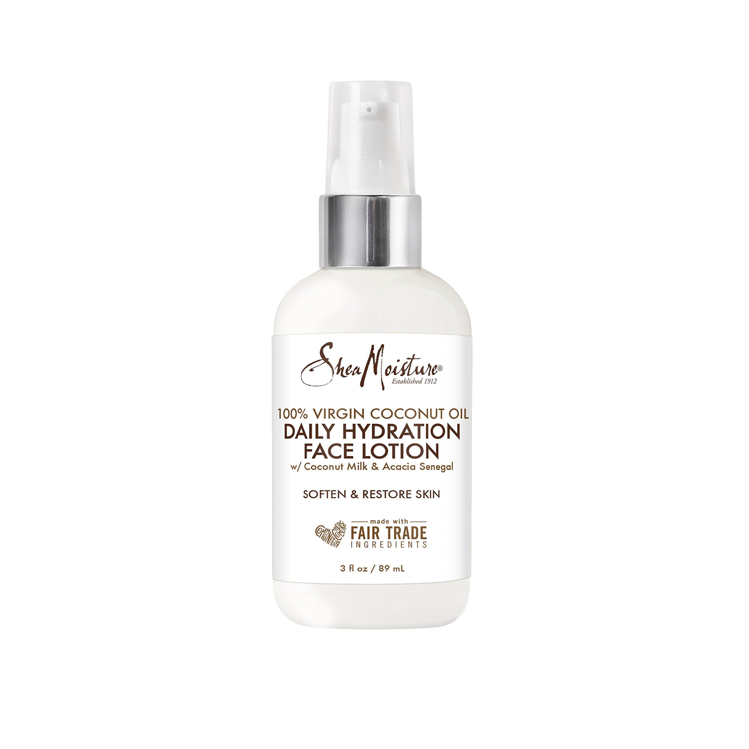 Sheamoisture Daily Hydration Face Lotion for All Skin Types 100% Virgin Coconut Oil for Daily Hydration 3 oz