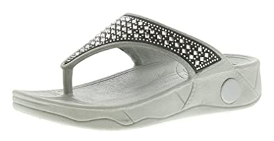 e0952f12a54e Dunlop Denise Womens Ladies Wedge Sandals Silver - Silver - UK Size ...