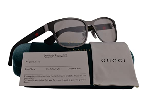 a3a3195463258 Gucci GG0013O Eyeglasses 55-16-145 Ruthenium Black 002 GG 0013O   Amazon.co.uk  Clothing