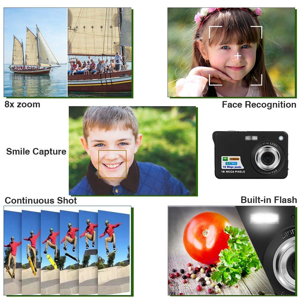 Yasolote HD Mini Point Shoot Digital Camera Video Recorder Cameras Sports,Travel,Holiday,Birthday Present by Yasolote (Image #4)