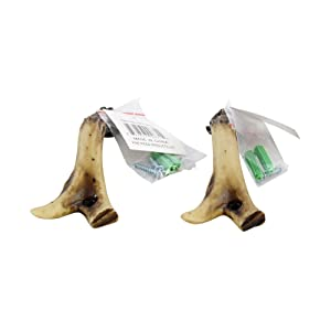 """Pine Ridge 5"""" Rustic Faux Antler Shed Accent Drawer Pulls Pack of 2 - Realistic Hand-Painted and Crafted Polyresin with Metal Inserts Mounting Screws Great for Rustic Home Decor"""