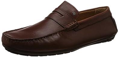 ceb2d367b04502 Van Heusen Men s Brown Leather Loafer - 6 UK India (40 EU)  Buy ...