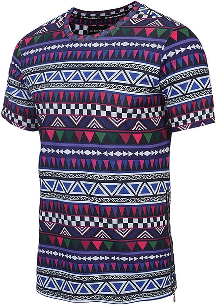 Hombres Tribal Africana Dashiki Camiseta Floral Hipster Hip Hop Tops Black S: Amazon.es: Ropa y accesorios