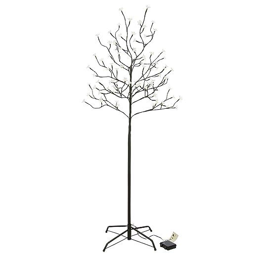 Weihnachtsbeleuchtung Akku.96 Led Baum Mit Blüten Blütenbaum Lichterbaum Warm Weiß 150 Cm Hoch Batterie Timer Ip44 Weihnachtsbeleuchtung Weihnachtsdeko Xmas