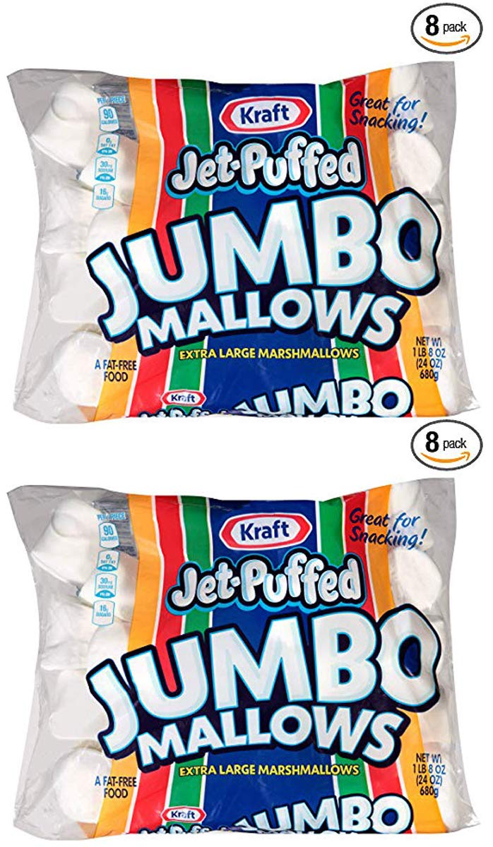 adsdw Jumbo Marshmallows, 24 oz Bag, 2 Packs (8 Pack) by Jet-Puffed