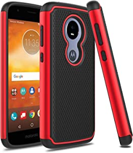 Venoro Moto E5 Play Case, Moto E5 Cruise Case, Slim Hybrid Dual Layer Armor Anti Scratch Shockproof Rugged Phone Protection Case Cover for Motorola Moto E5 Play/Moto E5 Cruise (Red/Black)