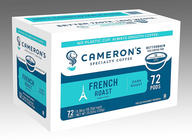 超格安価格 Cameron's Coffee Coffee Single Serve Pods, French Roast, 72 Roast, Count 72 B07JP5FBHQ, 文具のトスク:331aafb1 --- svecha37.ru