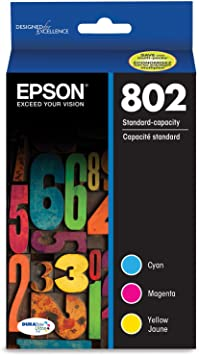 EPSON T802 DURABrite Ultra Ink Standard Capacity Color Combo Pack (T802520-S) for select Epson WorkForce Pro Printers