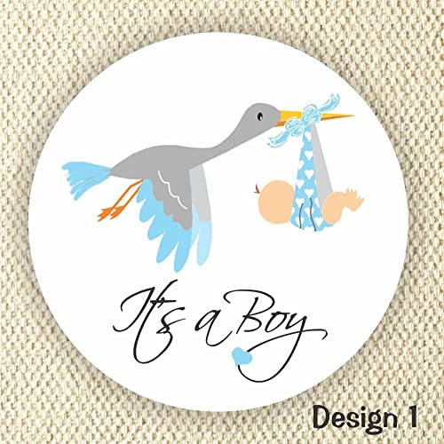 Amazoncom Its A Boy Stickers Baby Shower Stickers Stork Baby