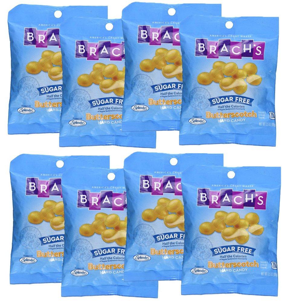 SweetGourmet Brach's Sugar Free Butterscotch Hard Candies 3.5 oz (Pack of 8) by SweetGourmet