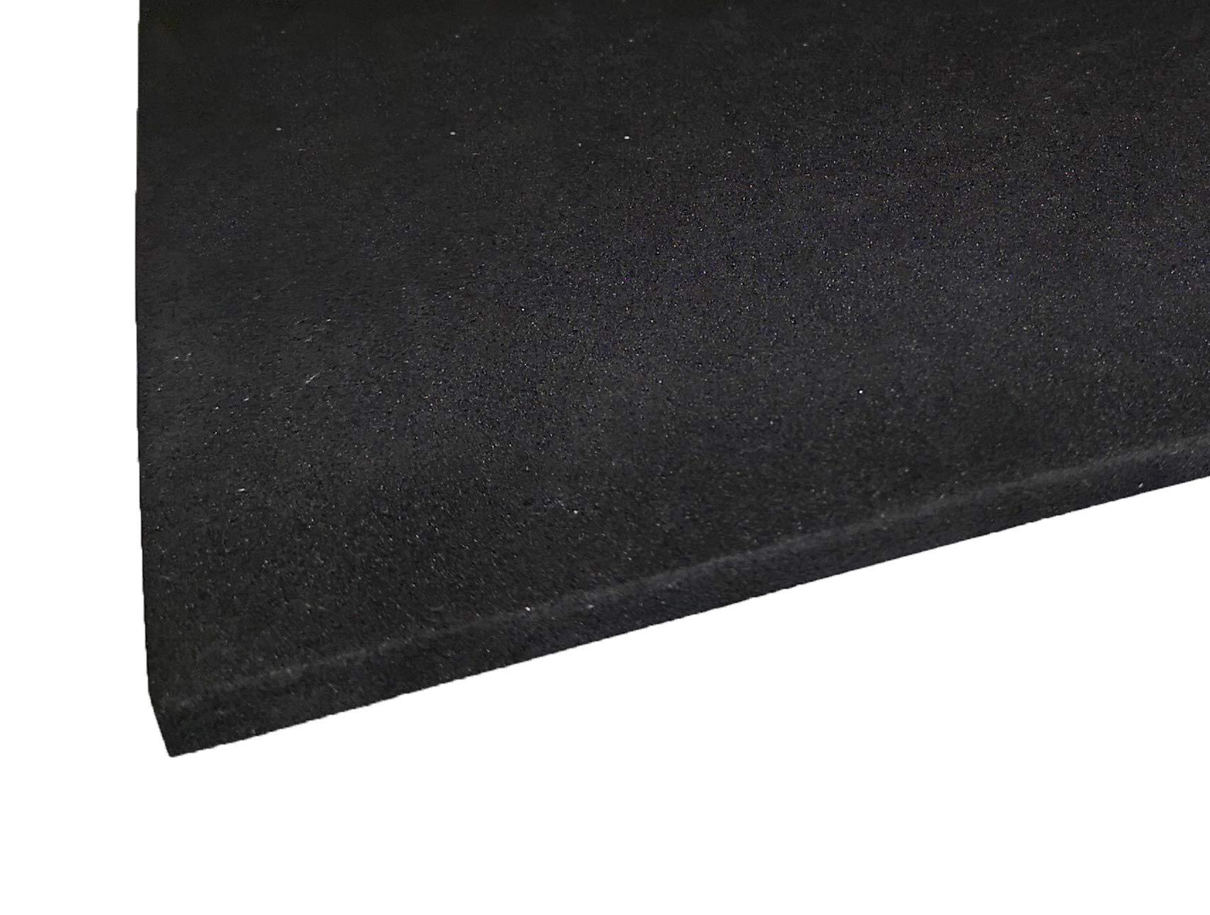 Black Neoprene Plain Sponge//Foam Rubber Sheet 250MM X 250MM X 3MM Thick
