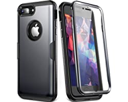 YOUMAKER Designed for iPhone 8 Plus Case & iPhone 7 Plus Case, Full Body Rugged with Built-in Screen Protector Heavy Duty Pro