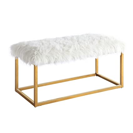 Admirable Amazon Com Chic Home Carolyn Fur Chrome Metal Frame Modern Andrewgaddart Wooden Chair Designs For Living Room Andrewgaddartcom