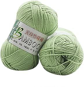 Hiroo - algodón + bambú cálido Suave Natural, Ganchillo, Hilo de ...