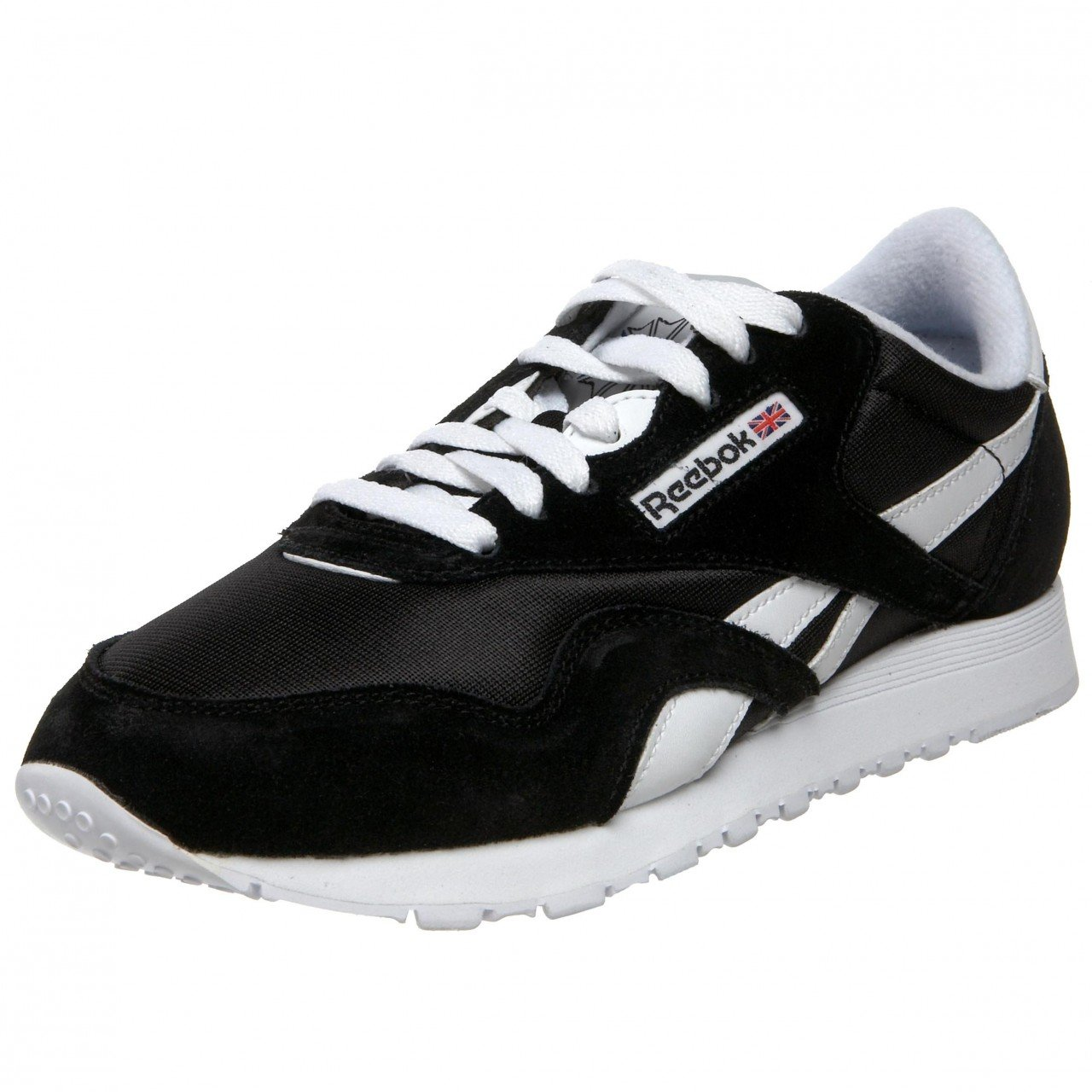 Reebok Damen Classic Nylon Sneakers  40 1/2 schwarz/wei?