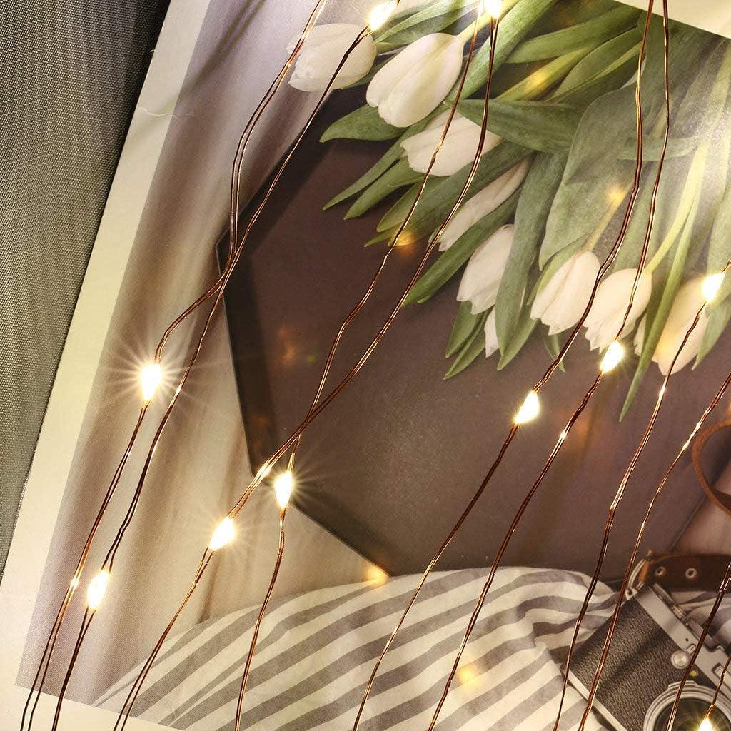 Party Weihnachten USB//Batteriebetrieben Stimmungsbeleuchtung Dekoration f/ür Wohnzimmer 5 Meter//Lichterketten-8 Modi 40 Foto-Clips LED Fotoclips Lichterkette f/ür Zimmer deko Warmwei/ß Hochzeiten