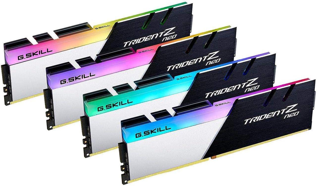 G.SKILL Trident Z Neo Series 32GB 4 x 8GB 288-Pin RGB DDR4 SDRAM DDR4 3600 Desktop F4-3600C16Q-32GTZNC for AMD Ryzen