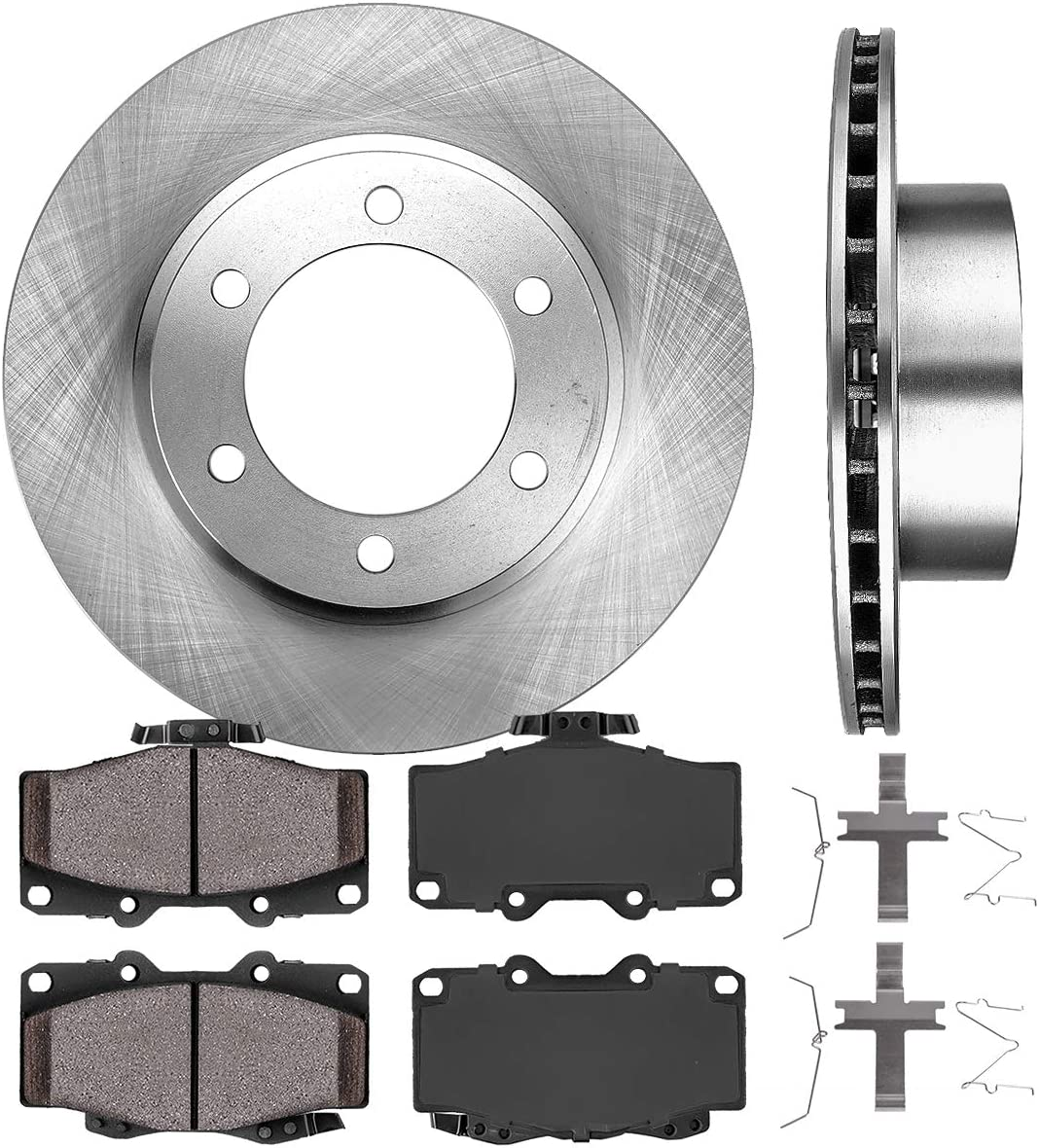 For 1999-04 Toyota Tacoma Front Drilled Slotted Brake Discs Rotors Ceramic Pads