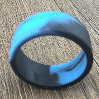 21mm Bands Silicone Protective Ring Cover Bumper Band 23 Colors Available (10-Pack (Blue/Black))