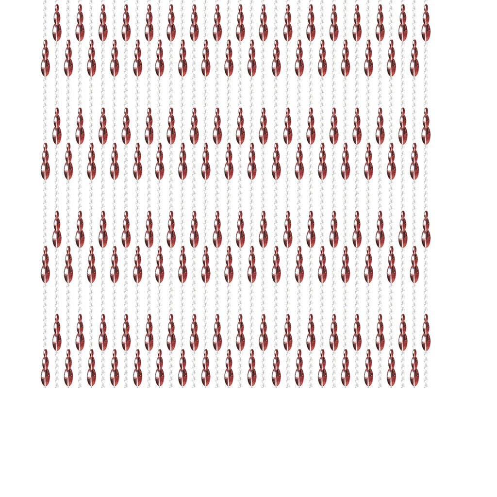 DGEG Tende per Porte, Viola Stringa di Perline di Cristallo Fringe Partition Panel Fly Screen Decorativo per casa 2,2 m Alta B