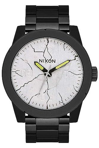 Nixon Corporal SS Reloj para Hombre Analógico de Cuarzo japonés con Brazalete de Acero Inoxidable A3463104: Amazon.es: Relojes