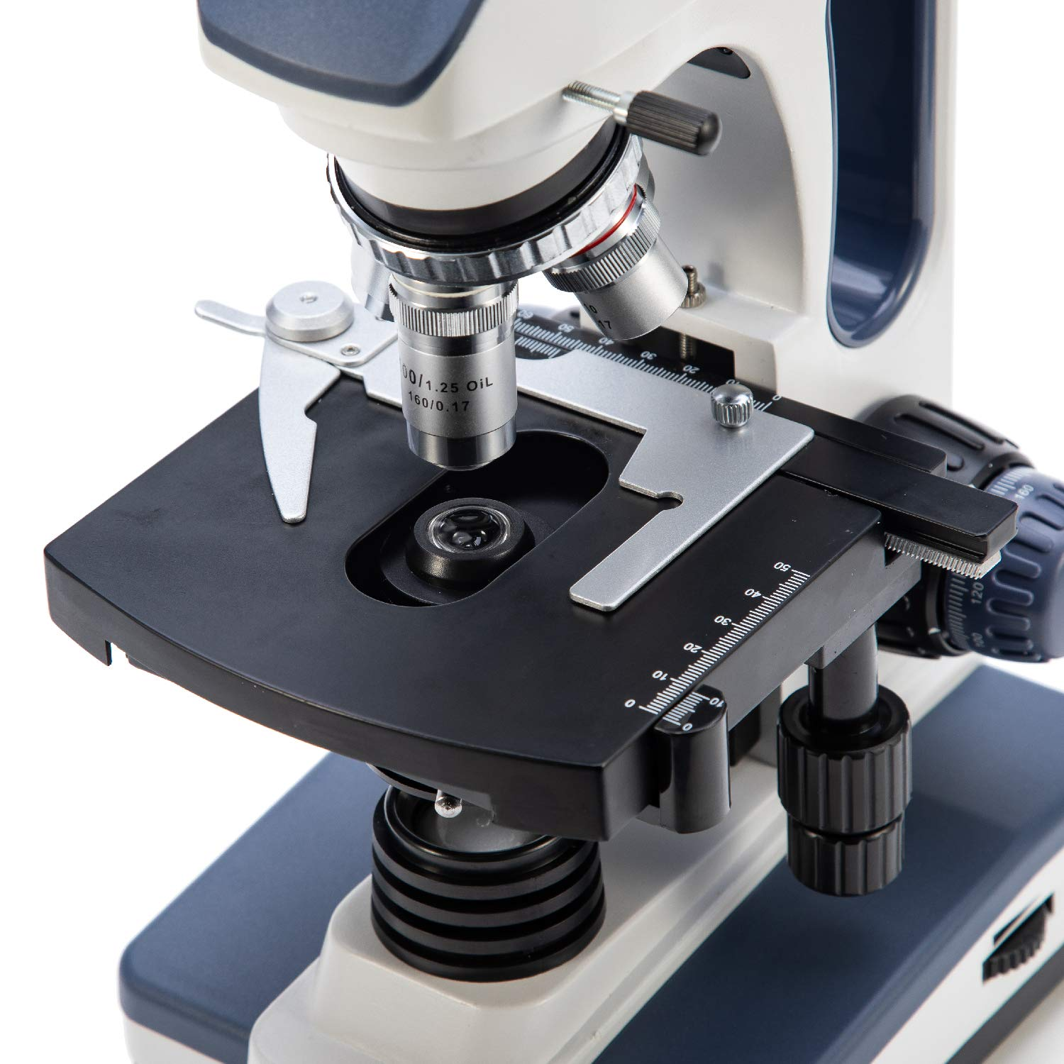 Swift SW350B 40X-2500X Magnification, Siedentopf Binocular Head, Research-Grade Compound Lab Microscope with Wide-Field 10X and 25X Eyepieces, Mechanical Stage, Abbe Condenser by SWIFT (Image #9)