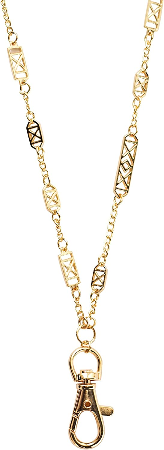 Christina Geometric Women's Fashion Lanyard Necklace with Swivel Clasp (Gold)